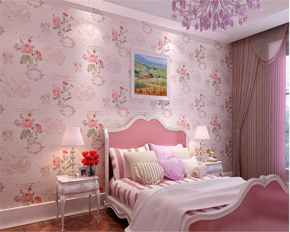 beibehang American non-woven classic beautiful wall paper 3D rural bedroom retro TV background wall papel de parede 3d wallpaper цены