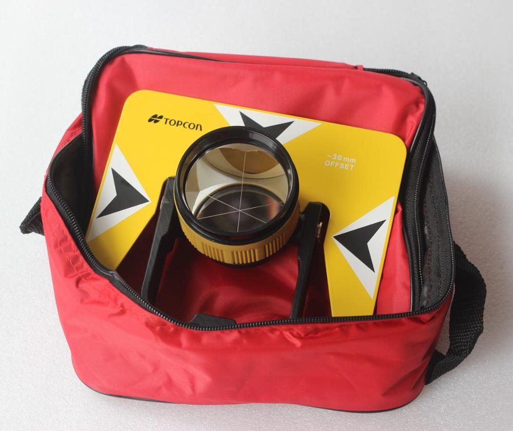 NEW All Metal Yellow TOPCON Prism set w/Bag for Topcon Pentax Nikon Sokkia total station surveying