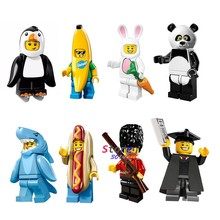 1pcs Panda harkman Sausage man Imperial Guard The Graduate Penguin Banana Guy Rabbit building blocks toys for children(China)