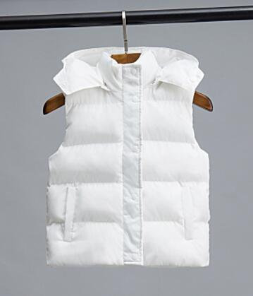 New 2018 spring autumn kids vest for girls clothes jackets for children winter cotton vest baby cute hooded warm waistcoat