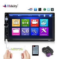 Hikity auto radio 2 din Car Radio 7 Inch Auto Radio Multimedia Player with ISO/Android Mirror link Support Steering Wheel Remote