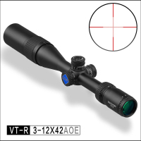 Discovery Optics VT R 3 12X42 AOE Side Parallax Hunting Riflescope With Red/Green Mil Dot Reticle Airsoft Scope