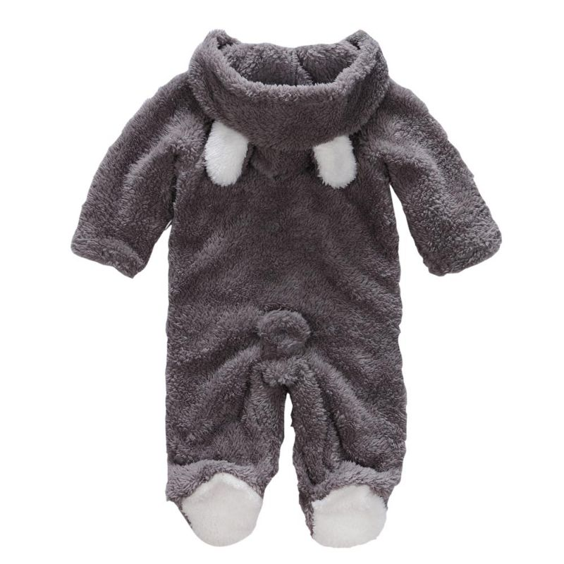 Baby Rompers Newborn Baby Girl Clothes Set Cute 3D Bear Ear Jumpsuit Baby Boy Clothes Set Autumn Winter Warm Baby Clothing Sets 1