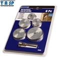 TASP 6pcs Mini Circular Saw Blade Set HSS Cutting Disc Rotary Tool Accessories Compatialble for Dremel - Wood Plastic Aluminum