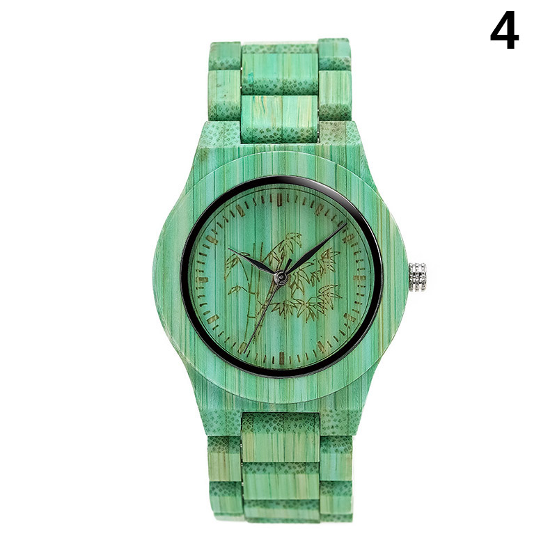 Quartz-Watch Wooden-Strap Wrist Gift Round Women Fashion Lady Colorful TY53 1pcs Dial