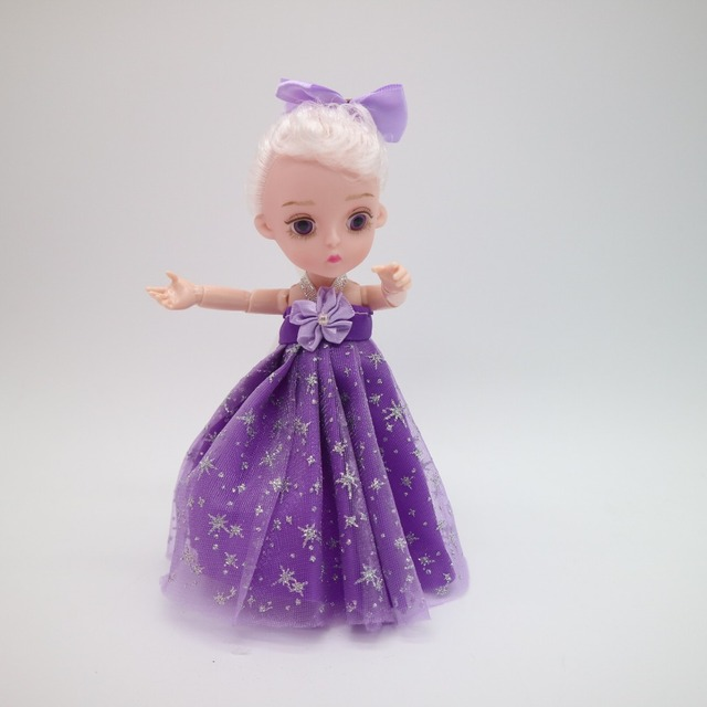 Small Princess Doll 1/8 Cute  bjd  1/8 joint body 3D eye plastic doll suitable for 18 wig face can DIY Head circumference 14cm 3