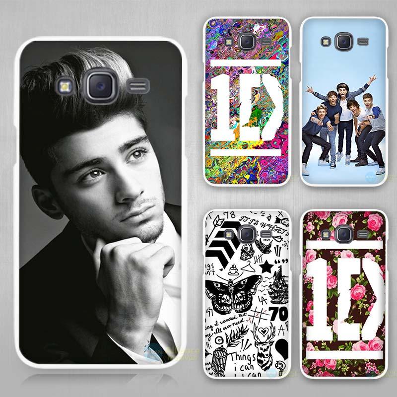 One Direction 1D Flower Logo Music Band Hard White Case Cover for Samsung Galaxy J1 J2 J3 J5 J7 C5 C7 C9 2016