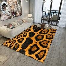 European and American fashion leopard printed carpet Winter living room bedroom floor mat non-slip rug customize