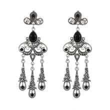 Buy black crystal chandelier earrings and get free shipping on nuncad 6 colors vintage wedding gift top earrings for women mozeypictures Image collections