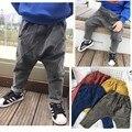 2017 resorte de la manera caliente Al Por Mayor de niños y niñas de algodón pp harem pantalones pantalones tamaño de la selección