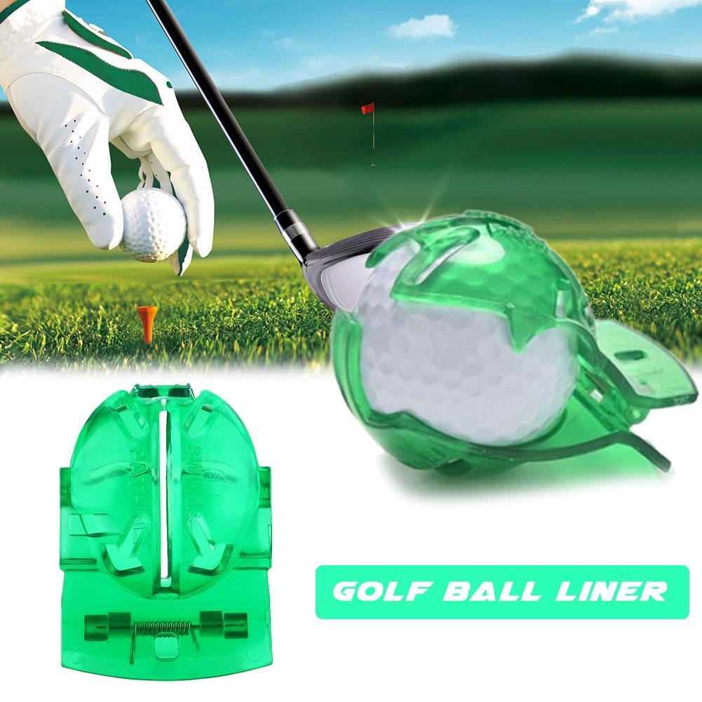 Мяч для гольфа лайнер писец прозрачный мяч для гольфа зеленая линия клип Лайнер Маркер Шаблон выравнивания Знаки инструмент положить со СП...