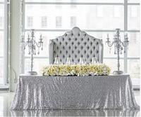 High quality 11 colors 225cmX330cm Glitter Silver Sequin Tablecloth Wedding Tablecloth Decoration Rectangle Sequin Table cloth