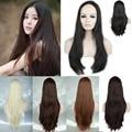 "3/4 Half Wigs Women Girl's 25"" (65cm) Long Straight Costume Daily Dress Wig Synthetic Kanekalon Heat Resistant"