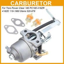Carburetors Carb for Toro Power Clear 180 PC180 418ZR 418ZE119-1980 Stens 520-876 Carburetor Gasket Fuel Filter Line Kit