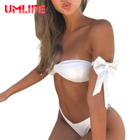 UMLIFE Sexy Bandage Bikini Sets Women Ruffle Lace Biquini Swimsuit Brazilian Push Up Swimwear Bathing Suit