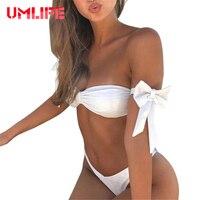 UMLIFE Sexy Bandage Bikini Sets Women Ruffle Lace Biquini Swimsuit Brazilian Push Up Swimwear Bathing Suit
