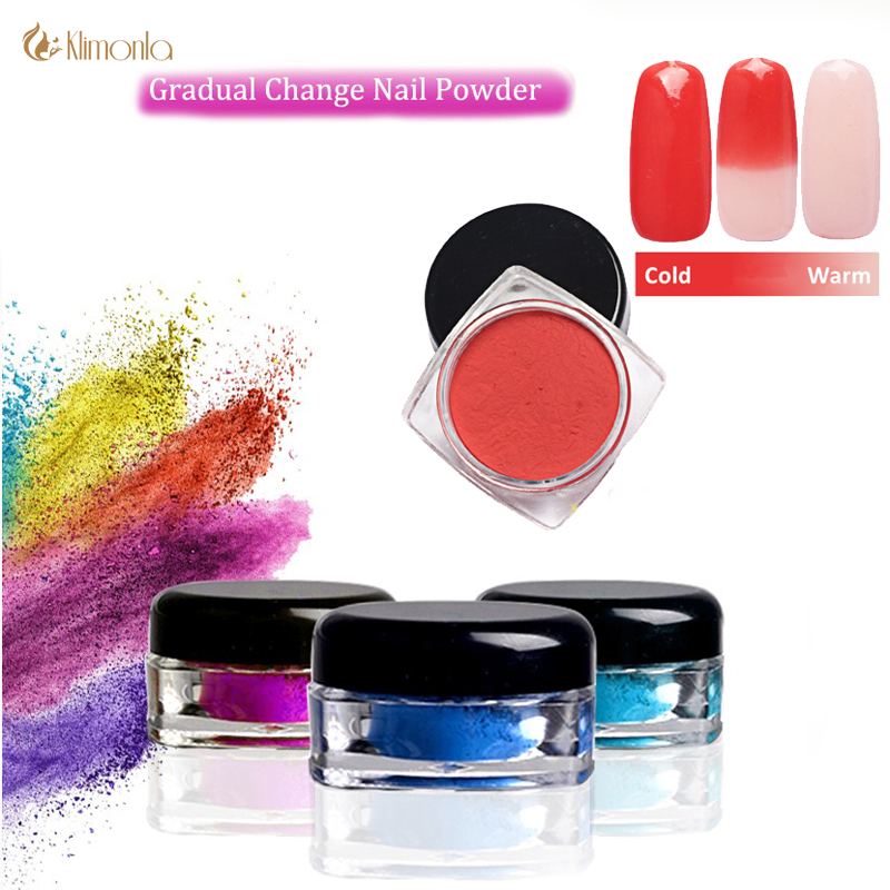 12 Colors Thermochromic Pigment Thermal Color Change Temperature Powder Dust Decorations Art Chameleon Shiny Nail Glitter Powder
