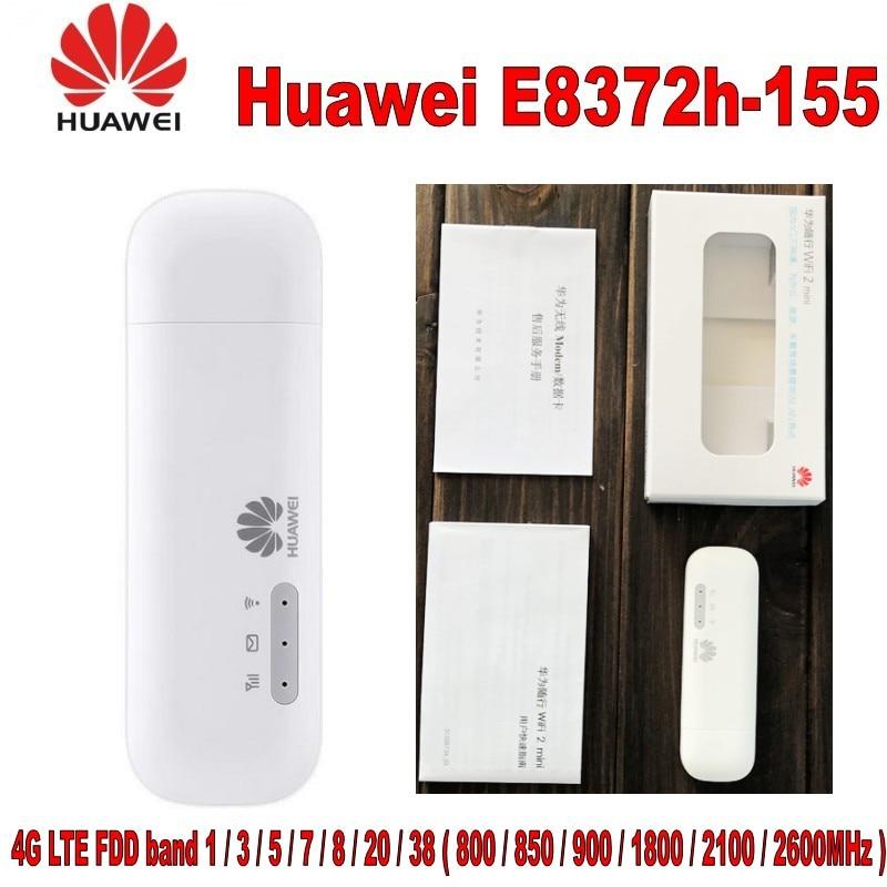 100% orginal Huawei Unlocked E8372 LTE USB Wingle LTE Universal 4G USB WiFi  Modem car wifi E8372h-155 for laptop