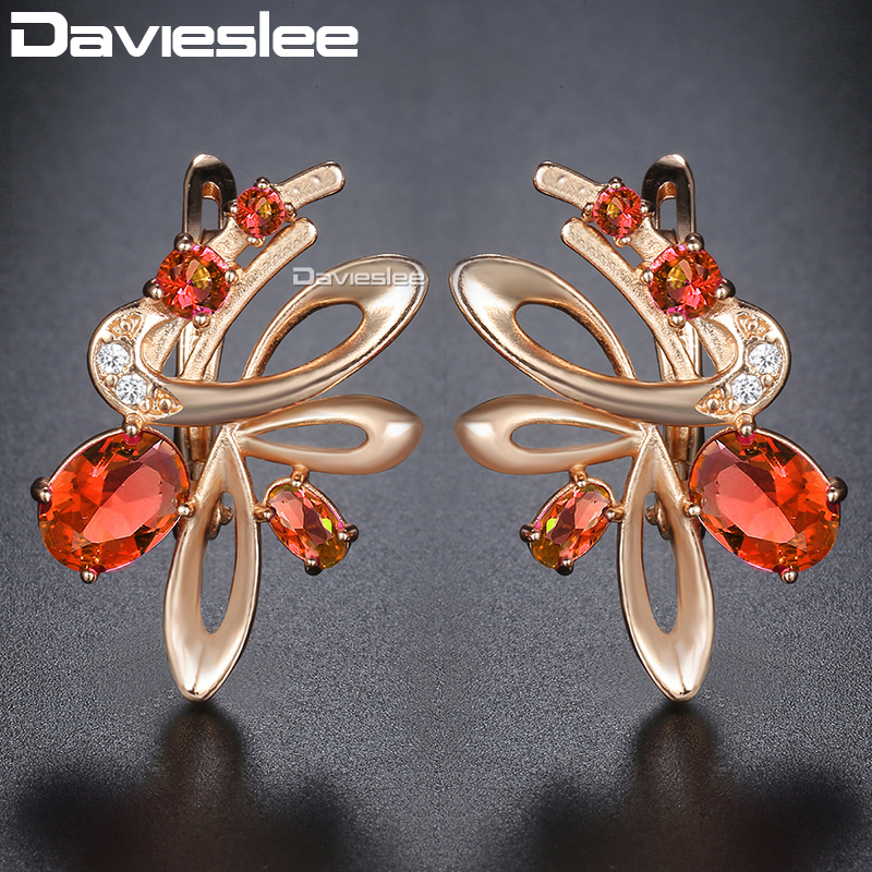 4f58c0c0a Davieslee Jewelry Set Women Cz 585 Rose Gold Filled - Year of Clean ...