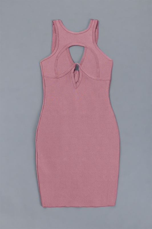keyhole wholesale pink rayon women top quality sexy women bandage dress   2