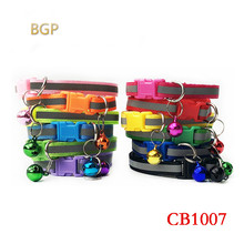 цена на 2019 CB1007 color buckle reflective collar 1.0 patch bell pet dog cat large number of spot factories
