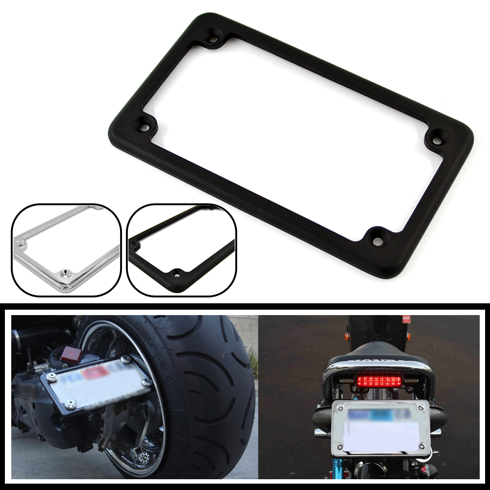 universal 4 x 7aluminum motorcycle number plate frame license plate frame