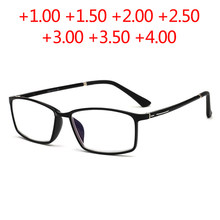 d559341dcfd Square TR90 Blue-coated lens Reading Glasses 2018 New men women eyewear Old  people Anti-radiation Hyperopia Presbyopia glasses
