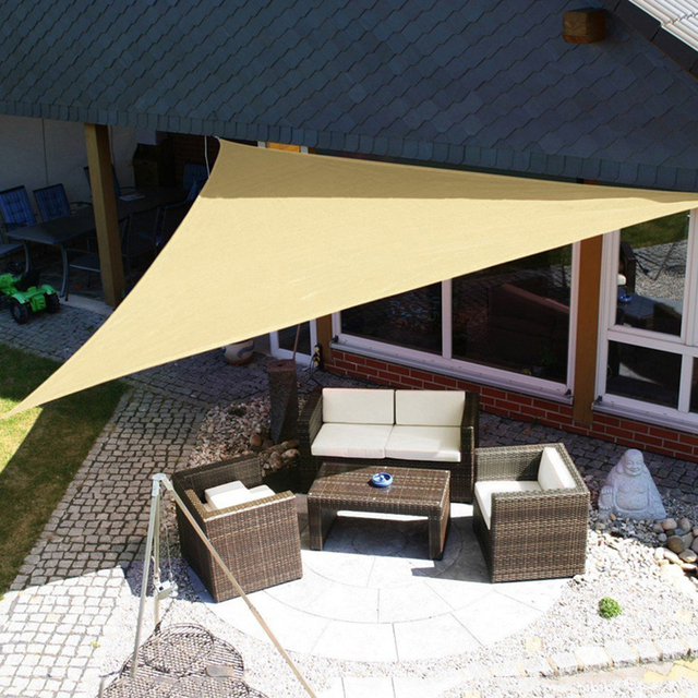 3m/ 3.6m Trigle Sun Shade Sail Canopy Patio Awning Garden UV Block Top Shelter : sun canopy for garden - afamca.org