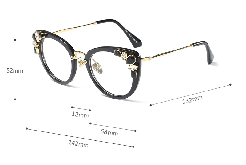 cat eye glasses 9328 details (2)