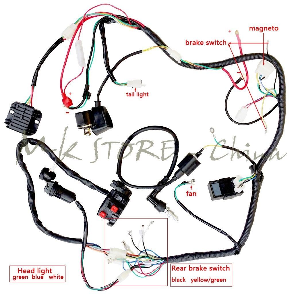 4 wire cdi chinese atv wiring diagram 2001 chevy malibu radio diagrams 110cc great installation of images gallery full electrics harness ignition coil rectifier switch rh aliexpress com