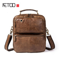 AETOO Men 's Bags Men' s Shoulder Bunny Cowboy Retro Casual Handbag Bunny Bag