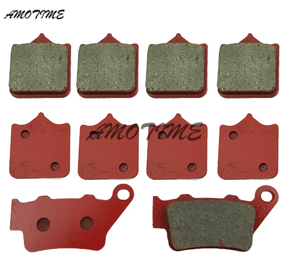 Motorcycle ceramic front and rear brake pads For Ktm 690 DUKE R 2008-2011 690 SM perstige 2007-2014 950 SUPERDUKE R 2005-2007 motorcycle front and rear brake pads for honda fmx650 5 6 2005 2008 black brakes pads