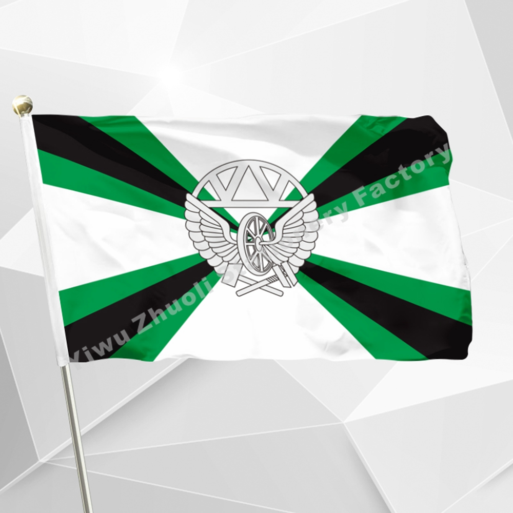 Russian Railway Troops Flag 90 x 150 cm 100D Polyester Russia Military Railroal Forces Flags and Banners