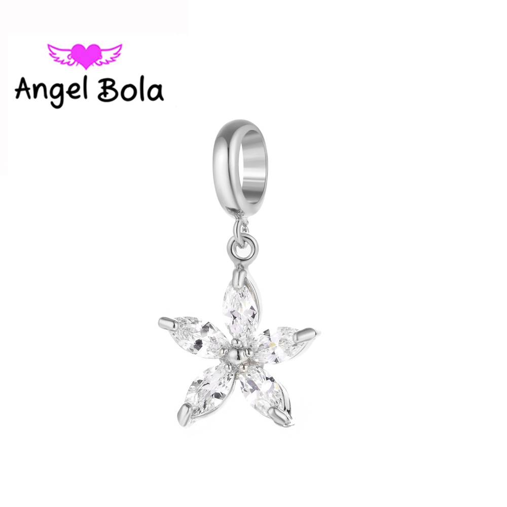 10pcs/Lot New Endless Charms For DIY Bracelet For Women Pentagram Leather Bangle Changeable Charms EP-031