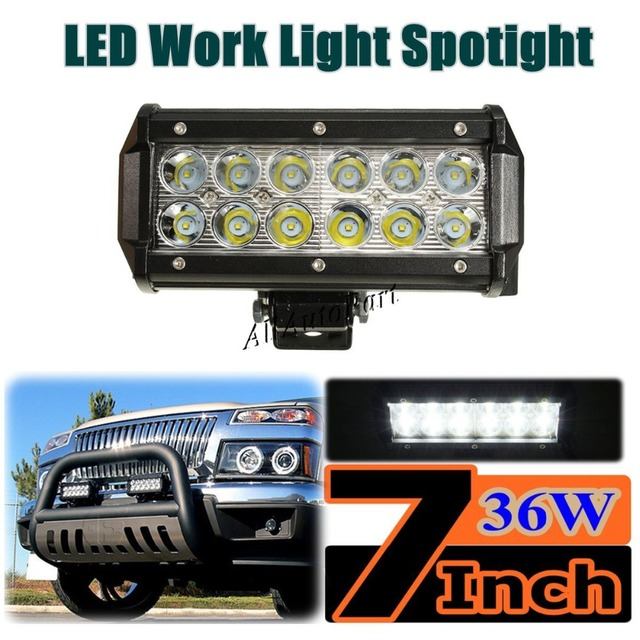 10 pcs 36w 7 led light bar c ree chips floodspot beam offroad 10 pcs 36w 7 led light bar c ree chips floodspot beam offroad mozeypictures Images