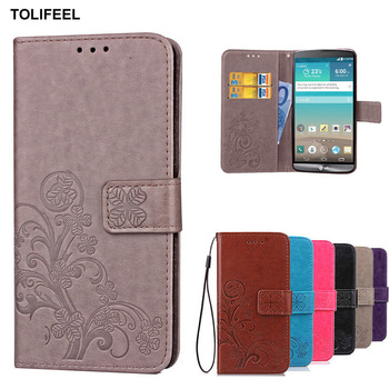 cf63db0c0 TOLIFEEL funda para LG G3 Cartera de cuero fundas para LG G3 D855 D851 S858  D850 LS990 teléfono caso con soporte titular de la tarjeta