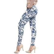 Fashion Legging Spandex Aptitud Print Floral Leggings Leggins Milk Silk Women Pants Leaf Tetris Clothing