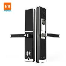 Оригинальный mi jia aqara умный дверной замок, цифровой сенсорный экран без ключа отпечатков пальцев + пароль работы для mi home app телефон управление