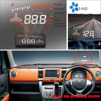 For Suzuki Jimny/Swift/Baleno/Ignis 2010-2018 2019 Car OBD HUD Head Up Display Saft Driving Screen Projector image