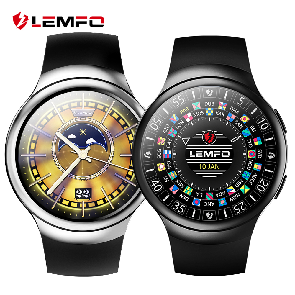 Lemfo les2 smart watches smartwatch android 1gb 16gb watch phone heart rate monitor gps wifi for Android watches