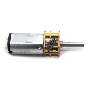 N30 Geared Motor DC 6V Speed Reducer 3mm D Axis Shaft, 170rpm, Large Torque Copper Gearbox Small for Robot Models