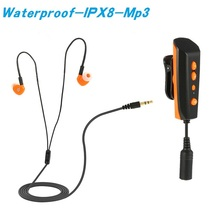 2018 Diving Swimming Mp3 IPX8 Waterproof Player with Eaephone Mini 8GB Clip Digital Sports Hifi Music for Summer