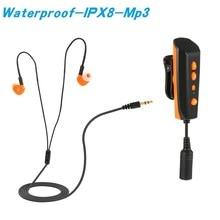 купить 2018 Diving Swimming Mp3 IPX8 Waterproof Player with Eaephone Mini Mp3 8GB Clip Digital Sports Hifi Music Player for Summer дешево