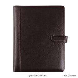 Высококачественная деловая папка из натуральной кожи, папка для файлов формата А4, папка для менеджеров, с калькулятором, кольцо, скоросшива...