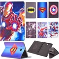 For Tab E T560 Cartoon flip Stand tablet case cover for galaxy Tab E 9.6 T560 / T561 case Spider-ManThe Avengers Iron Man Batman