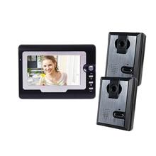 Yobang Security 7″ Video Doorbell Camera Door Intercom 2 Outdoor Camera Video Door Phone Color Camera Video Intercom