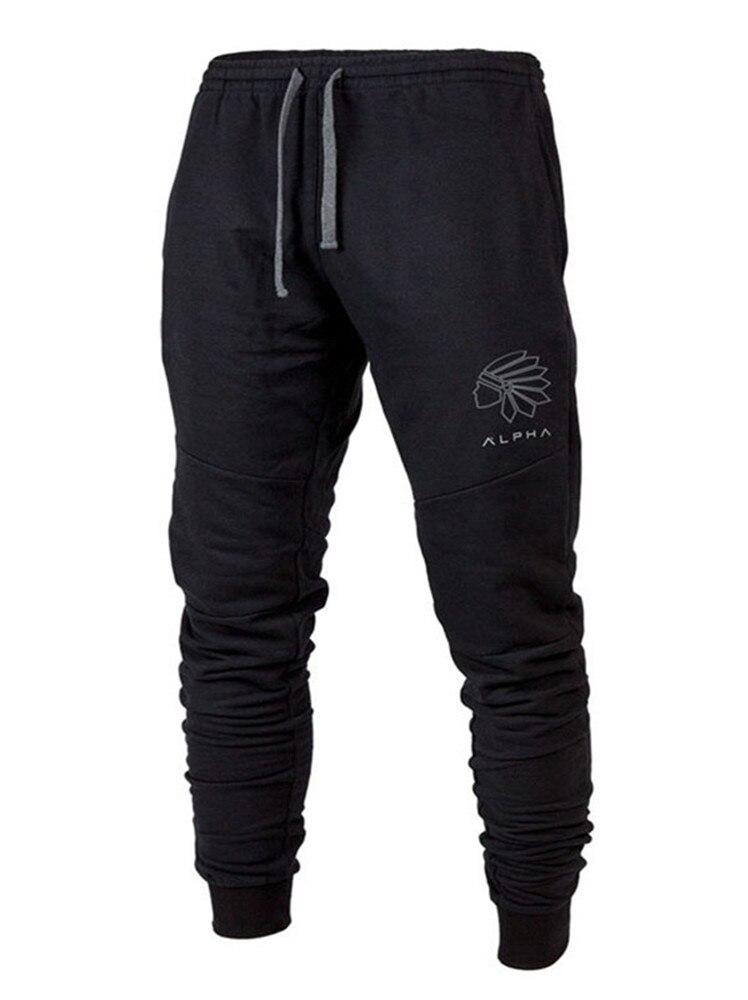 YEMEKE 2019 fashion GYMS Mens Joggers Pants Bodybuildin autumn new Brand Joggers Sweatpants Bottom Pants Men Trousers