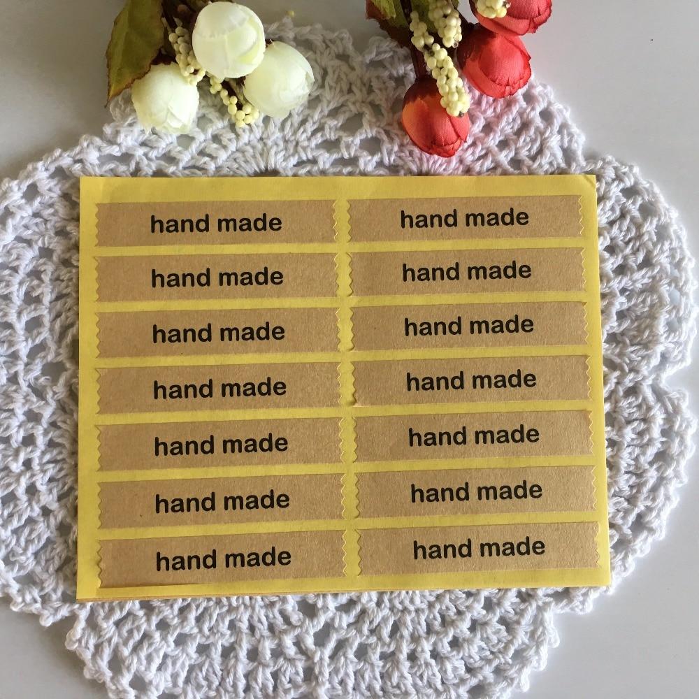 600 unids/lote 7x1.5 cm hecho a mano con letra encantadora patrón de ...