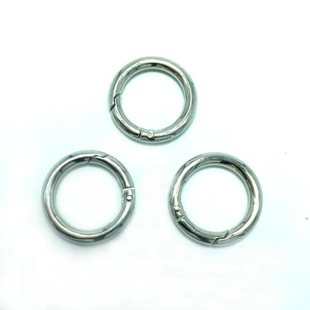 Zinc Alloy Nickel Finish Spring Gate O Ring With Dia. 1.5 inch-in ...