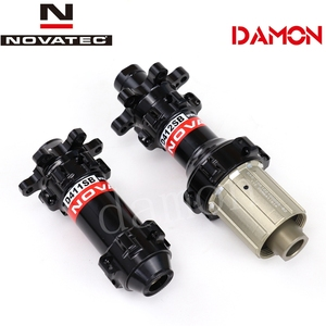 Image 2 - Tajwan Novatec D411SB D412SB 24H drogowe hamulce tarczowe piasty rowerowe Quick Release lub przez oś 12*100mm 12*142mm przód i tył